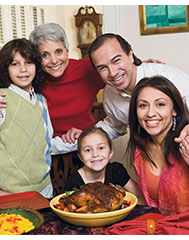 Latinos celebrating Thanksgiving